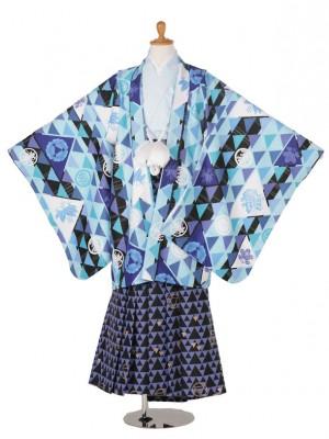 小学生卒業式袴男児TK523-5004ブルー/水色/ブルー黒
