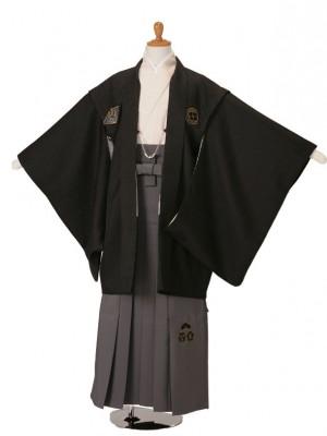 小学生卒業式袴男児KKD-1黒/ベージュ/グレー