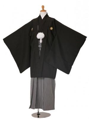 小学生卒業式袴男児523-5503綸子黒/529-0285白黒縞