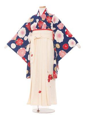 小学生卒業袴レンタル(女の子)116青地×梅の花
