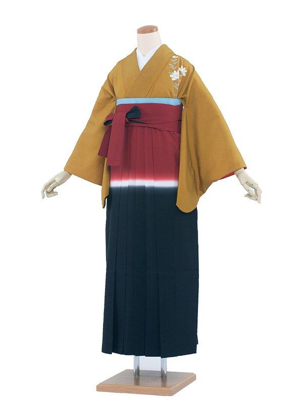 卒業袴レンタル(8121) からし/赤紺袴97