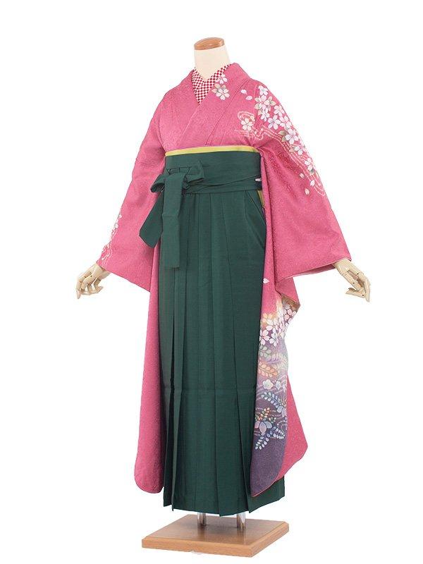卒業袴レンタル(0018)かわいい/緑袴95