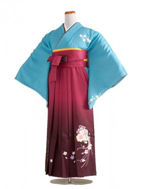 女袴(8189)水色/ワイン袴97