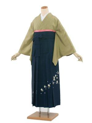 卒業袴レンタル(0012)刺繍1つ紋/紺袴91