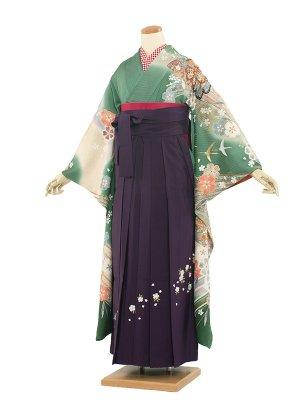 卒業袴レンタル(0017)花盛/紫袴99