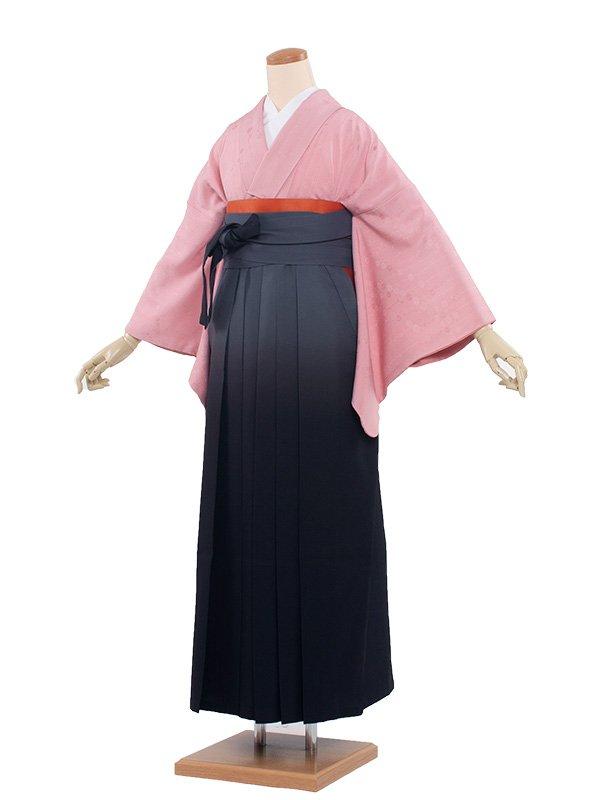 女袴(8217)ピンク色/黒ぼかし袴96
