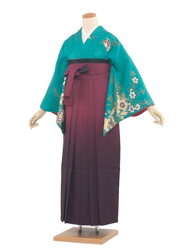 女袴(8193)グリーン/ワイン袴95