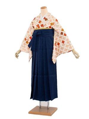 卒業袴レンタル(0015)和柄/緑袴91