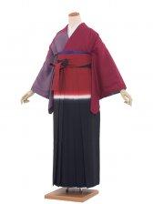 女袴(8162)ワイン/赤紺袴97