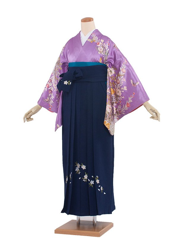 卒業袴レンタル(8116)薄紫色/紺袴97