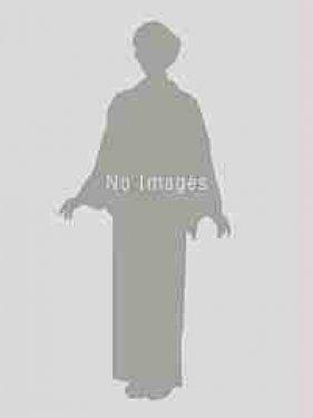 エンジ地に八重桜鹿の子×黄緑桜輪刺繍袴