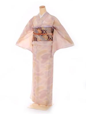 単衣 【HANAE MORI】紫 雲取り 8101