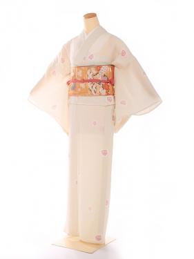 単衣 【HANAE MORI】ピンク 小桜 8100