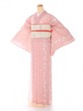 絽 ピンク 小桜流水 8103