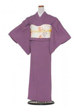 正絹単衣 87 紫/無地