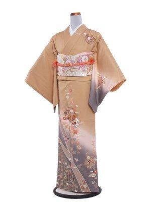 【正絹】訪問着レンタル 390 ベージュ/結婚式・入学式・お宮参