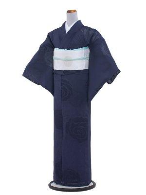 【正絹】紋紗 55 紺色