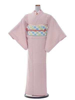 【コーデ】訪問着レンタル 386 ピンク色無地/結婚式・入学式・お宮参