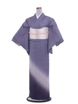 【正絹】紋紗 47 青紫/縦ぼかし