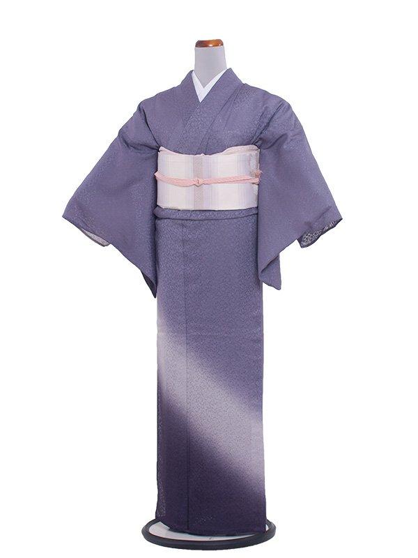 正絹紋紗 47 青紫/縦ぼかし