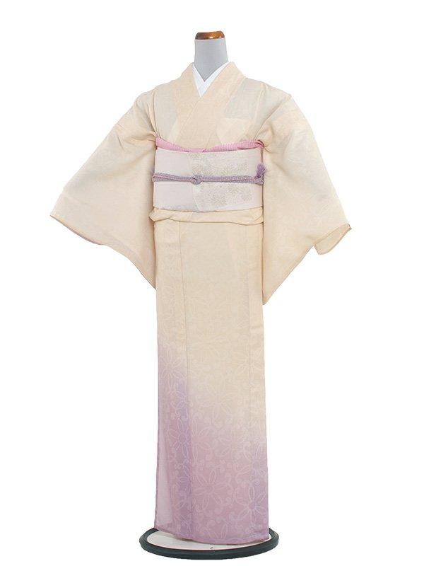 正絹紋紗 50 薄黄色/縦ぼかし