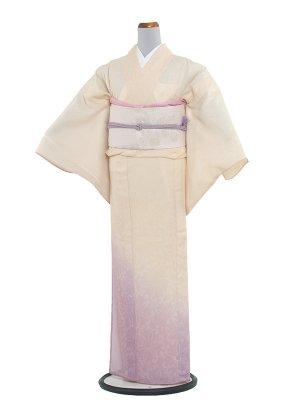 【正絹】紋紗 50 薄黄色/縦ぼかし