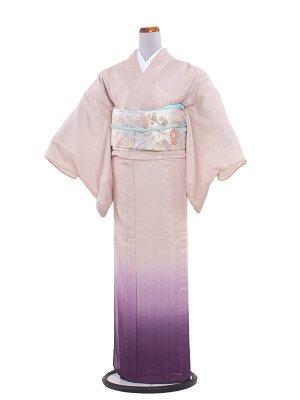 正絹紋紗 48 サーモンピンク/横ぼかし