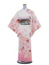 NEO訪問着 199 白/和花と秋桜