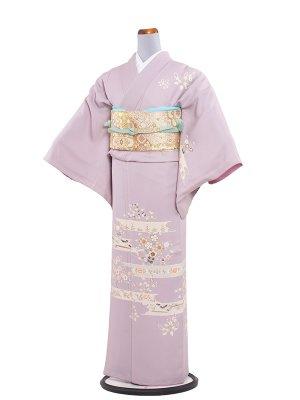 【正絹】訪問着レンタル 140桃紫に和花