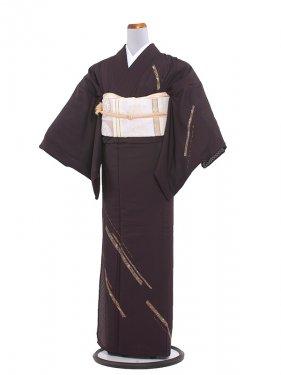 正絹絽 44 茶/刺繍