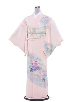 【正絹】夏小紋 絽 107 クリーム/和花
