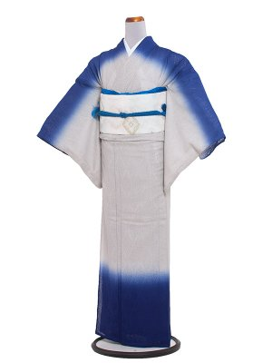 【正絹】紋紗 53 青のしめ