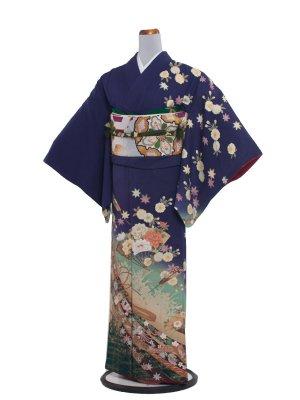 【正絹】訪問着レンタル 378 紫/結婚式・パーティー
