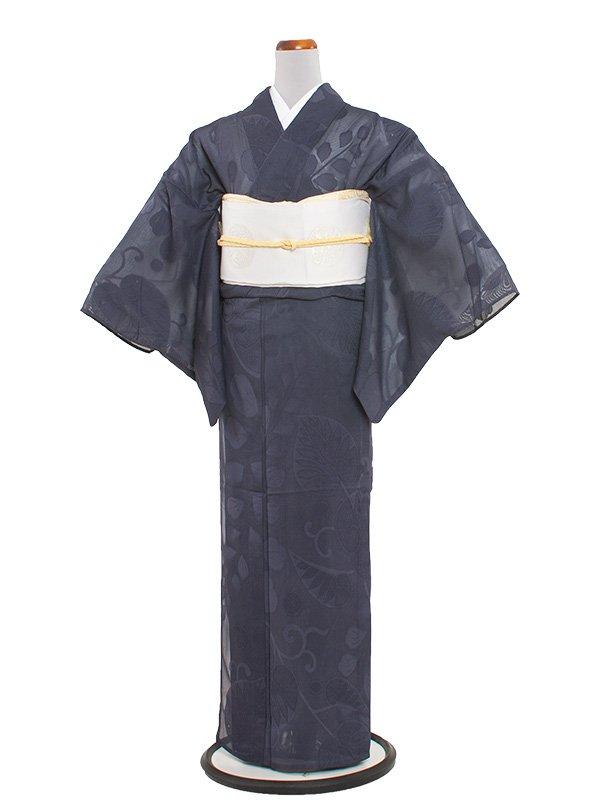 正絹紋紗 37 青紫/紗夏着物