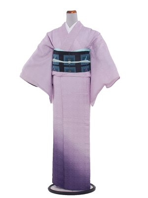【正絹】紋紗 46 藤むらさき/縦ぼかし