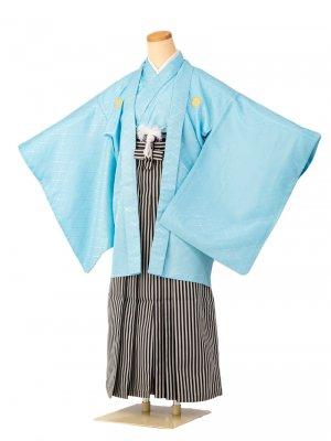 小学生卒業式袴男児0003 水色