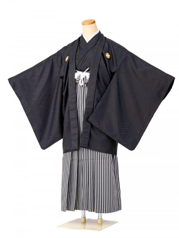 小学生卒業式袴男児0001 黒