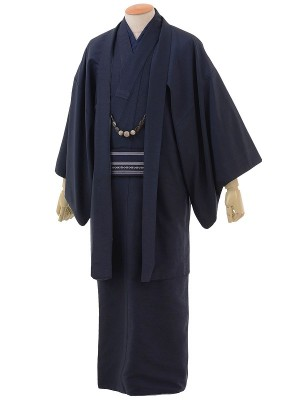 ワンタッチ 男 袷(L 170-175cm)濃紺
