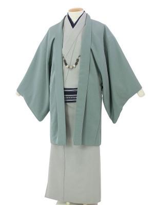 ワンタッチ 男 単衣(M 168-173cm)緑
