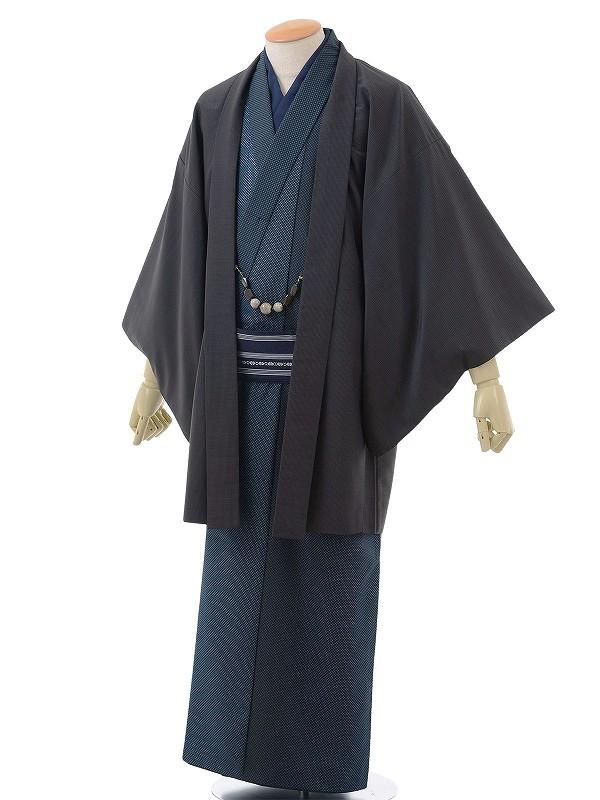 ワンタッチ 男 袷(S 163-168cm)紺