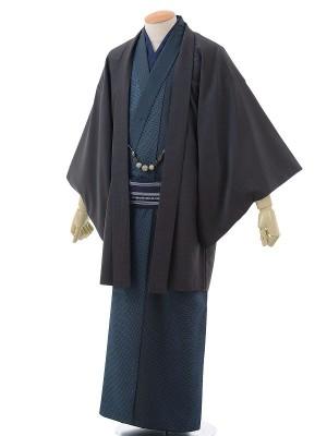 ワンタッチ 男 袷(M 168-173cm)紺