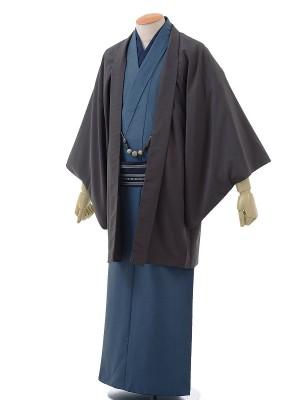 ワンタッチ 男 袷(3L 183-188cm)紺