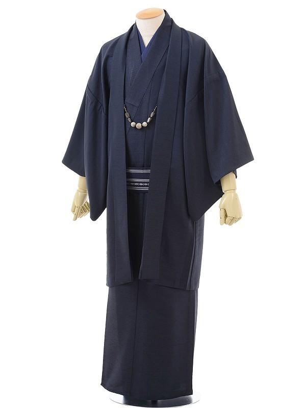 ワンタッチ 男 単衣(XS 156-161cm)濃紺