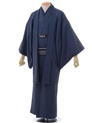 ワンタッチ 男 袷(M 167-172cm)紺