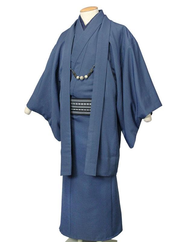 ワンタッチ 男 袷(M 166-171cm)紺