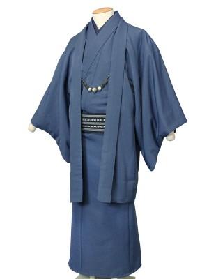 ワンタッチ 男 単衣(S 163-168cm)紺