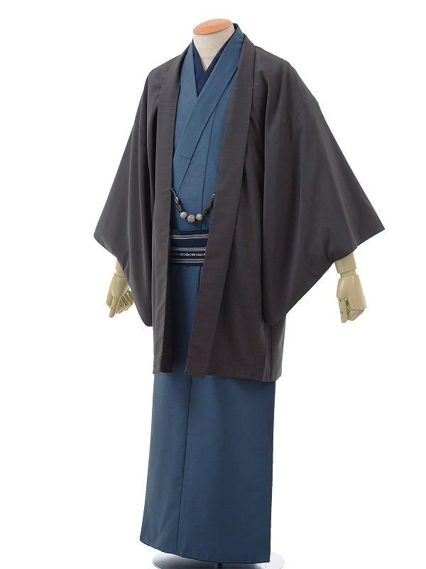 ワンタッチ 男 袷(L 173-178cm)紺