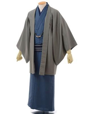 ワンタッチ 男 単衣(L 172-177cm)紺