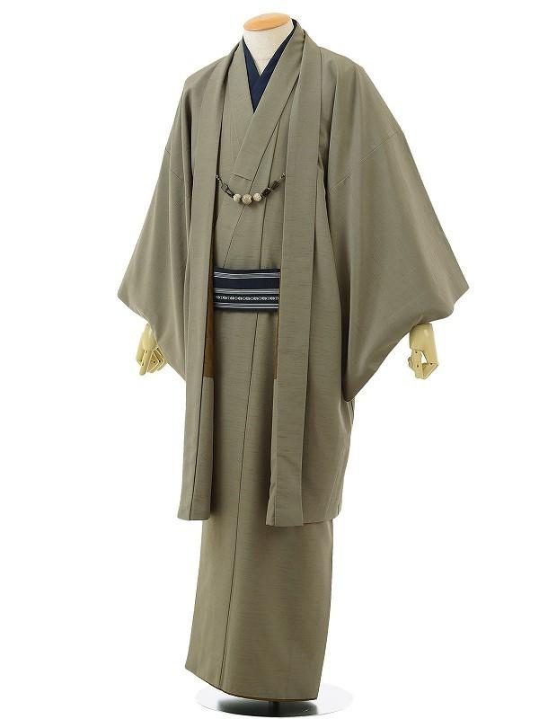 ワンタッチ 男 袷(XL 175-180cm)緑