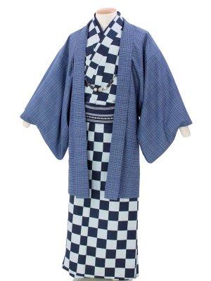 ワンタッチ 男 単衣(4L 188-193cm)紺